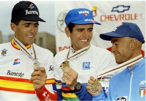 El Mundial de Ruta, la gran asignatura pendiente de Indurain