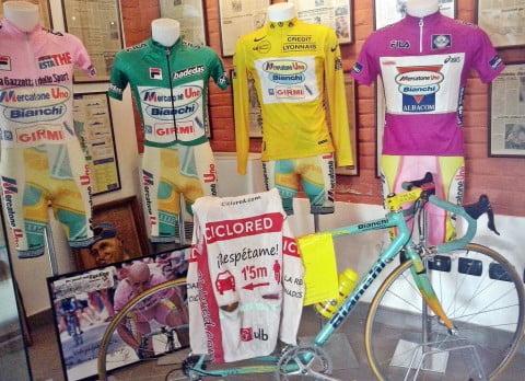 Las bicicletas de Marco Pantani
