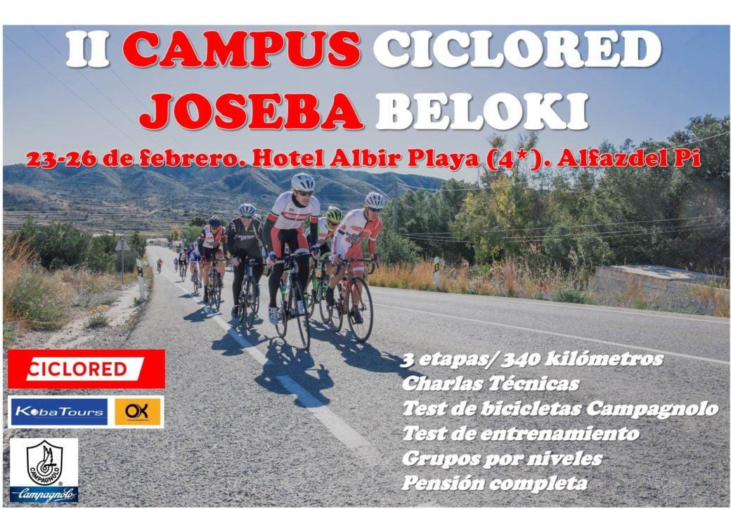 Campus Ciclista Ciclored Joseba Beloki cartel anunciador