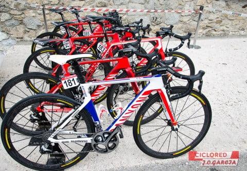 Las bicicletas profesionales de La Vuelta 2015
