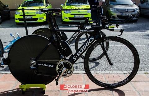 Las bicicletas contrarreloj de los equipos profesionales