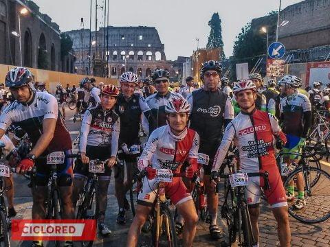 Ciclistas romanizados. Gran Fondo Campagnolo Roma 2016